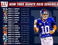 NY Giants 2016 Schedule Graphics