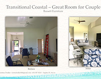 Before & After Transitional Coastal Condo for Couple