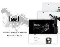 FREEBIE: Leel - Personal Portfolio PSD Template