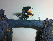 Balrog vs Gandalf Kazhad-Dum - Diorama