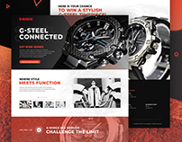 [Website design] CASIO G-Shock - New model release