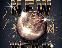 Classy New Year Party Flyer Template