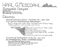 Pen and Ink Resume ::: Karl Mesedahl