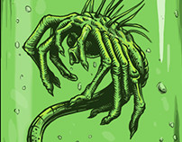 Alien facehugger sticker