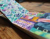 Watercolor prints and postcards