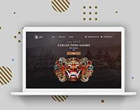 Indonesian Masks Sales landing page