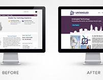Untangled Technology Website Redesign
