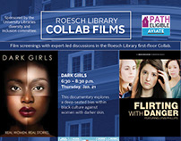 Roesch Library Collab Films flier