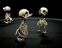 Funny Skeleton Sculpture