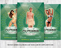 PSD party flyer Disturbia vol.2