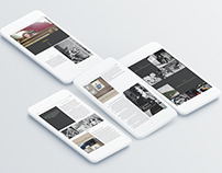 Vivian Maier web page redesign template