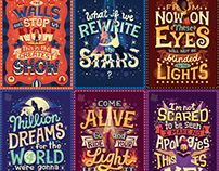 The Greatest Showman Lyric Posters