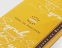 Design of BARON PHILIPPE DE ROTHSCHILD booklets