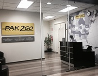 Signage and Decoration for Pak2Go's Offices