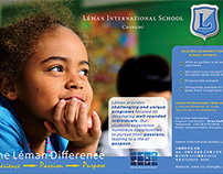 Corporate Advertisement - LEMAN INTERNATIONAL SCHOOL