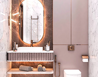 Girl bathroom design in Bahrain ( private villa)