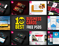 10 Best Business Cards Free PSD