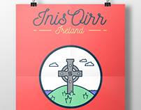 Irish Illustrations - Inis Oirr Island