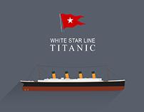 Titanic flat design