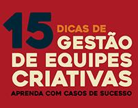 """Infographic """"15 dicas de gestão de equipes criativas"""""""