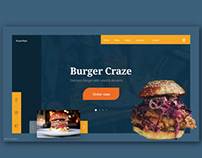 Burger Craze - Web header design