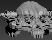 """An afternoon of 3ds Max: """"Flamethrower Skull"""""""