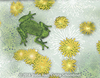 Frog and Dandelions