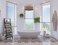 """Villa """"Garden Retreat"""". Bathroom."""