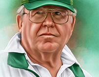 Buddy Ryan Digital Oil Painting