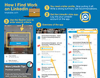 Infographic: LinkedIn Jobs App Reference Guide