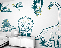 jurassic world :: kids wall stickers
