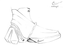 Futuristic iconic footwear sketch concepts