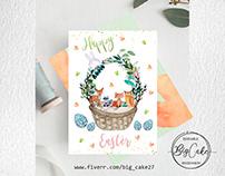 Forest animals meet Easter