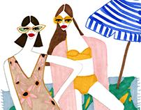 Illustration made for swimwear brand Bodymaps