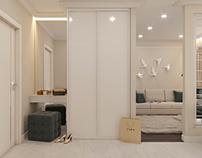 Визуализация 1-комнатной квартиры,совместно с Юлия Тома