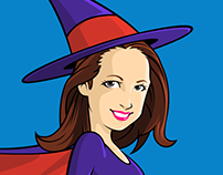 Caricature of Arielle as Bewitched Character