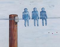 """""""Waiting Line"""" AoC 120 x 80 cm"""