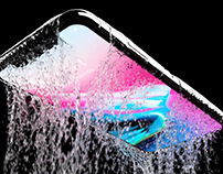 iPhoneX Water Resistance Product 3D Animation