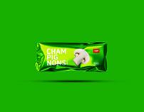 Champignons packaging