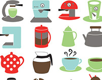 Retro Coffee Shop Symbols