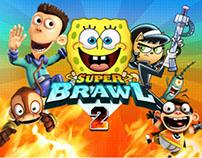 Nick.com: Super Brawl 2 / Characters Animation