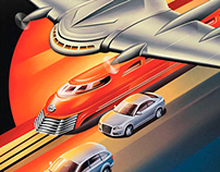 Illustrations for Audi calendar 2011 project