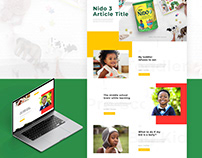 Nido Kids Web Redesign