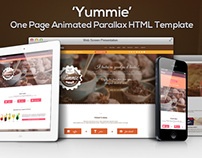 'Yummie' - One Page Animated Parallax HTML Template