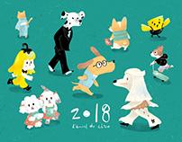 2018狗年賀卡