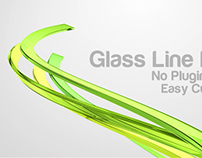 Glass Line Logo Reveal