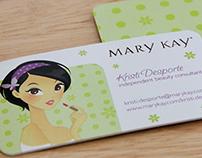 Custom Mary Kay consultant business cards