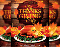 Pre Thanksgiving Party - Seasonal A5 Flyer/Poster