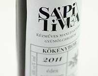 Fruit wines label concept