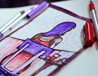 Random Sketch-  ol' girl